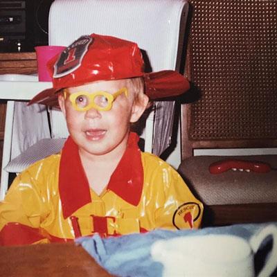 Sarah as a child